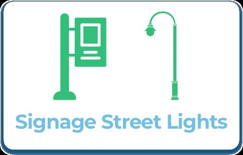 Signage Street Lights